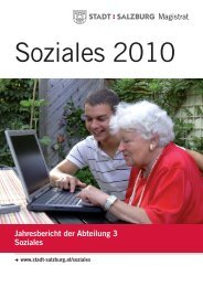 Jahresbericht Soziales 2010 - Stadt Salzburg