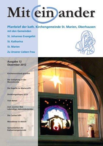 Ausgabe 12 / Dezember 2012 - St. Marien Oberhausen
