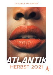 Atlantik Verlag Vorschau Herbst 2021