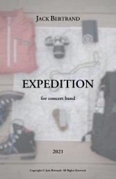 Jack Bertrand - EXPEDITION - Score
