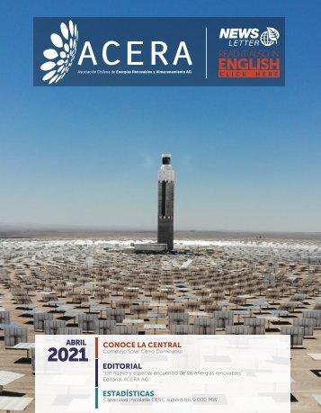 Newsletter ACERA - Abril 2021