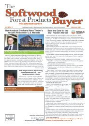 Softwood Forest Products Buyer - May/June 2021