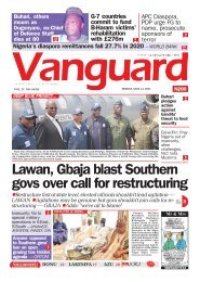 14052021 - Lawan, Gbaja blast Southern govs over call for restructuring