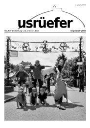 Staufner Dorfzeitung und amtliches Blatt September 2003 - Staufen