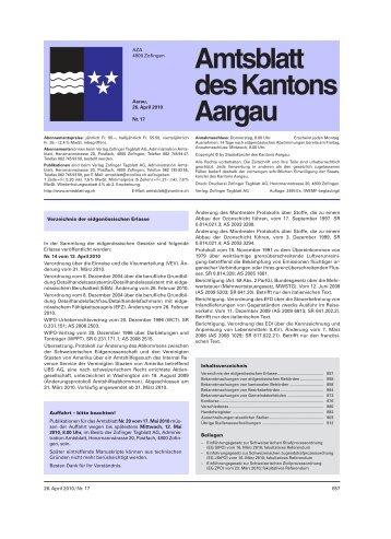 Amtsblatt des Kantons Aargau