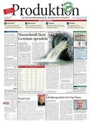 Wasserkraft Lässt Gewinne Sprudeln - Produktion