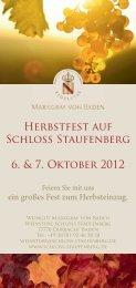 Herbstfest auf Schloss Staufenberg 6. & 7. Oktober 2012 - Durbach