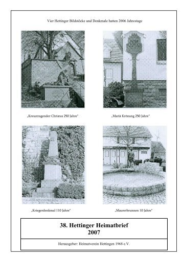 38. Hettinger Heimatbrief 2007 - Protendics