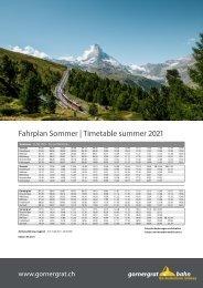 Fahrplan ab Sommer 2021