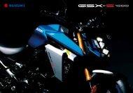 Suzuki GSX-S1000 Modellprospekt