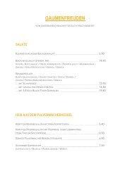 Pulvermacher Almhütte - Speisen & Getränke