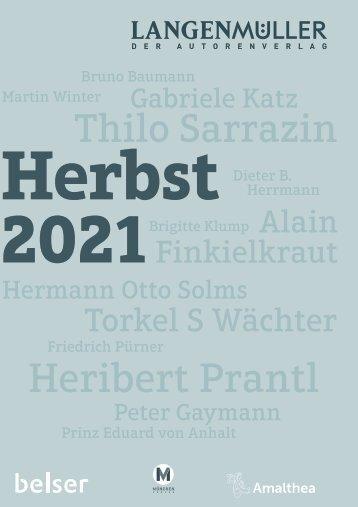 Langenmüller & Belser   Programmvorschau Herbst 2021