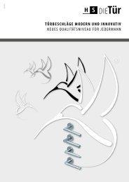 HS Die Tuer: Innovative Türbeschläge