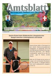 Samira Eckert beim Süddeutschen Jüngstenturnier ... - Durbach