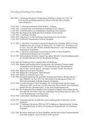 Chronologie des Salzburger Herzverbands