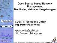Open Source based Network Management Monitoring virtueller - Cubit