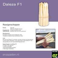 Raseigenschappen asperge Daleza