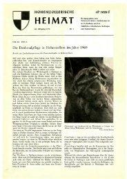 höh enzollerische heimat - Hohenzollerischer Geschichtsverein eV
