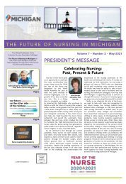 Future of Nursing in Michigan - May 2021