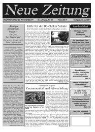 Hilfe für die Boschoker Schule Zusammenhalt und ... - Neue Zeitung