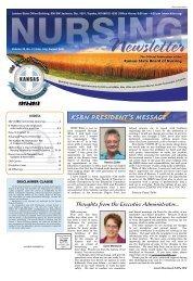 Kansas State Board of Nursing Newsletter - June 2021