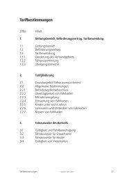 Tarifbestimmungen - Verkehrsverbund Süd-Niedersachsen