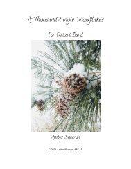 A Thousand Single Snowflakes - Score