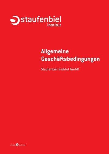 Allgemeine Geschäftsbedingungen (PDF) - Staufenbiel.ch