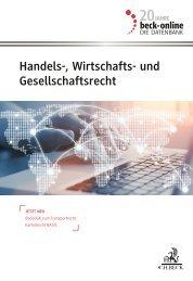 Handels-, Wirtschafts- und Gesellschaftsrecht