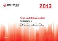 Print- und Online-Medien Mediadaten - Staufenbiel.de