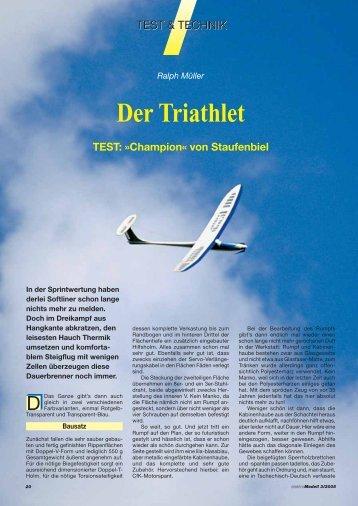 Der Triathlet TEST: »Champion« von Staufenbiel