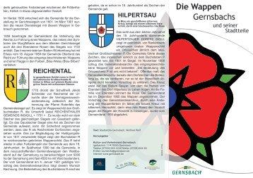 Die Wappen Gernsbachs - Stadt Gernsbach