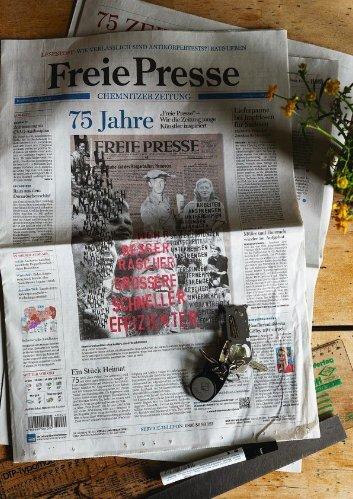 Künstlerische Auseinandersetzung mit 75 Jahre Freie Presse
