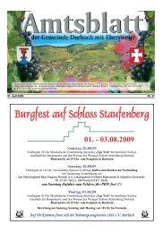 Burgfest auf Sc Burgfest auf Schloss Staufenberg loss ... - Durbach