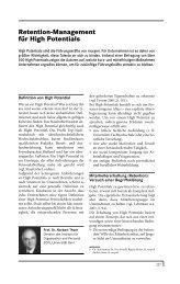Retention-Management für High Potentials - Org-Portal.org