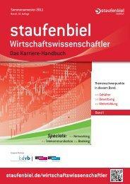 Wirtschaftsrecht · Wirtschaftsinformatik in Vollzeit ... - Staufenbiel.de