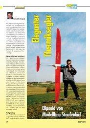 Eleganter Therm iksegler Elipsoid von Modellbau Staufenbiel