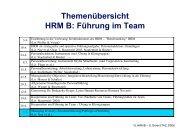 Merkmale des HRM in erfolgreichen Firmen