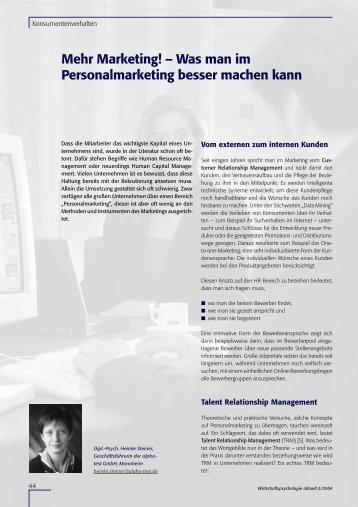 Mehr Marketing! – Was man im ... - Alpha-test GmbH