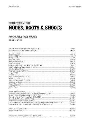 NODES, ROOTS & SHOOT NODES, ROOTS ... - Donaufestival