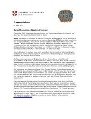 Pressemitteilung StudyWorld 2010 - Cambridge ESOL
