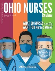 Ohio Nurses Review - June 2021