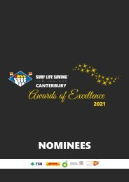2021 Canterbury Awards of Excellence Nominees Booklet