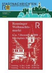 Donnerstag, 4. Dezember 2008 Woche 49 - Stadt Renningen