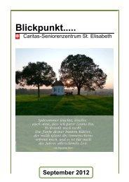 Blickpunkt..... - CAB Caritas-Seniorenzentrum St. Elisabeth ...