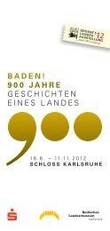 badEn! 900 JahrE GESCHICHTEN EINES LANDES - Stadt Rastatt
