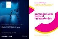kammermusik festival hohenstaufen 6.