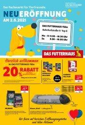 Neueröffnungsflugblatt  DAS FUTTERHAUS Ybbs an der Donau