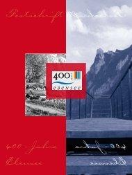 Festschrift 400 Jahre Ebensee Fests chri ft 400 Jahre Eben see