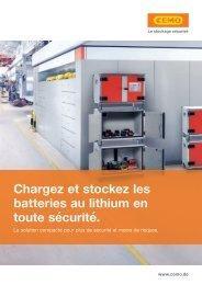 Chargez et stockez les batteries au lithium en toute sécurité | Max Urech AG